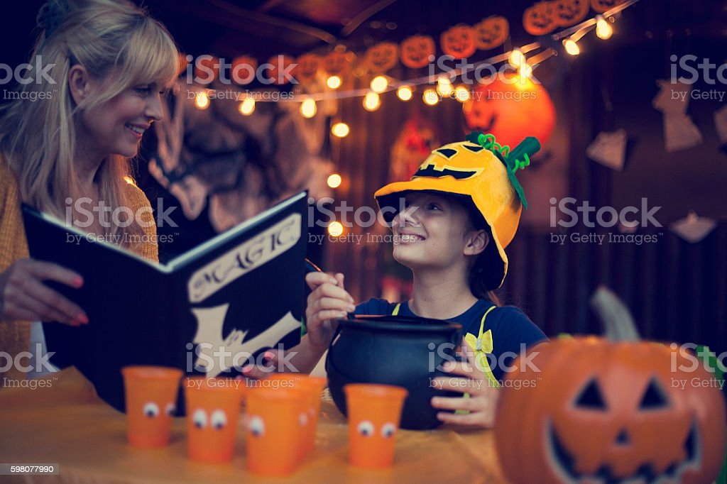 We have special Halloween recipes stock photo