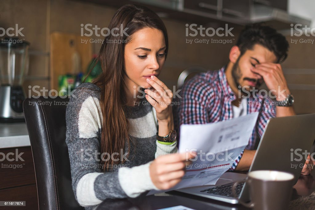 We have to pay bills stock photo