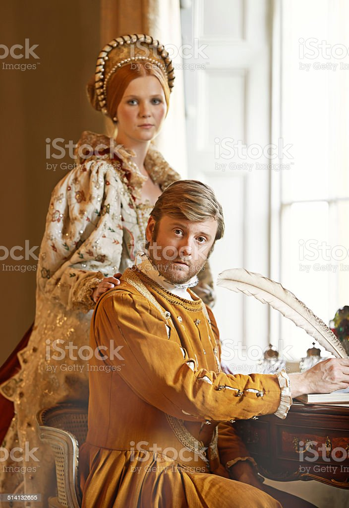 We have urgent correspondence with the king! stock photo