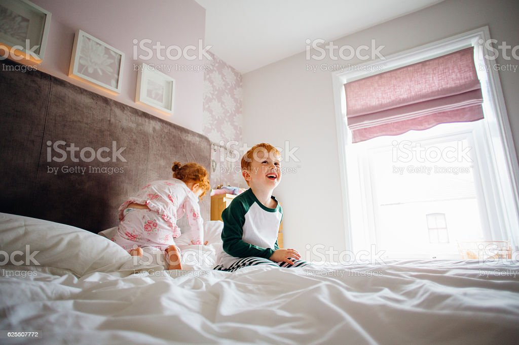 We Haven't Been Bouncing on the Bed stock photo