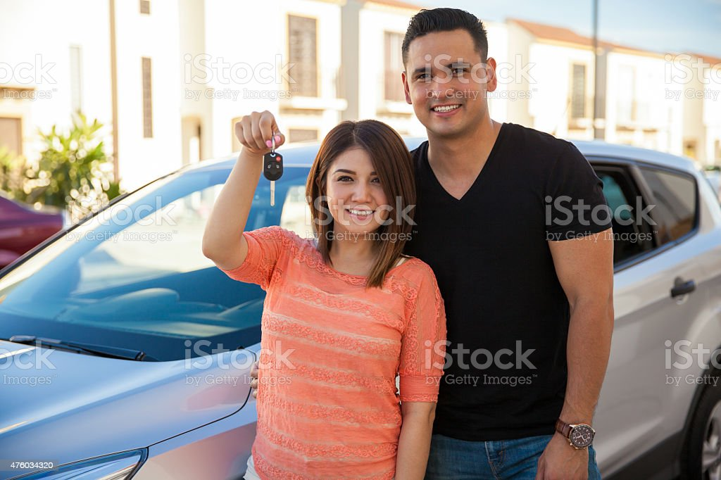 We just got a new car! stock photo
