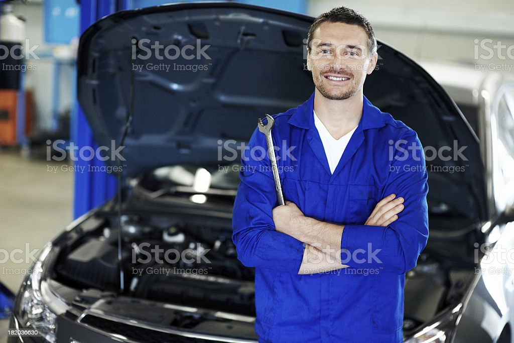 We know exactly what's under your car's hood! royalty-free stock photo