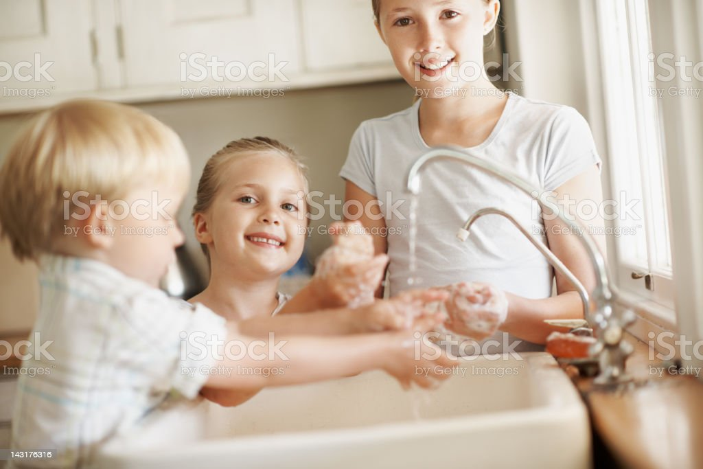 We know how to stay germ-free royalty-free stock photo