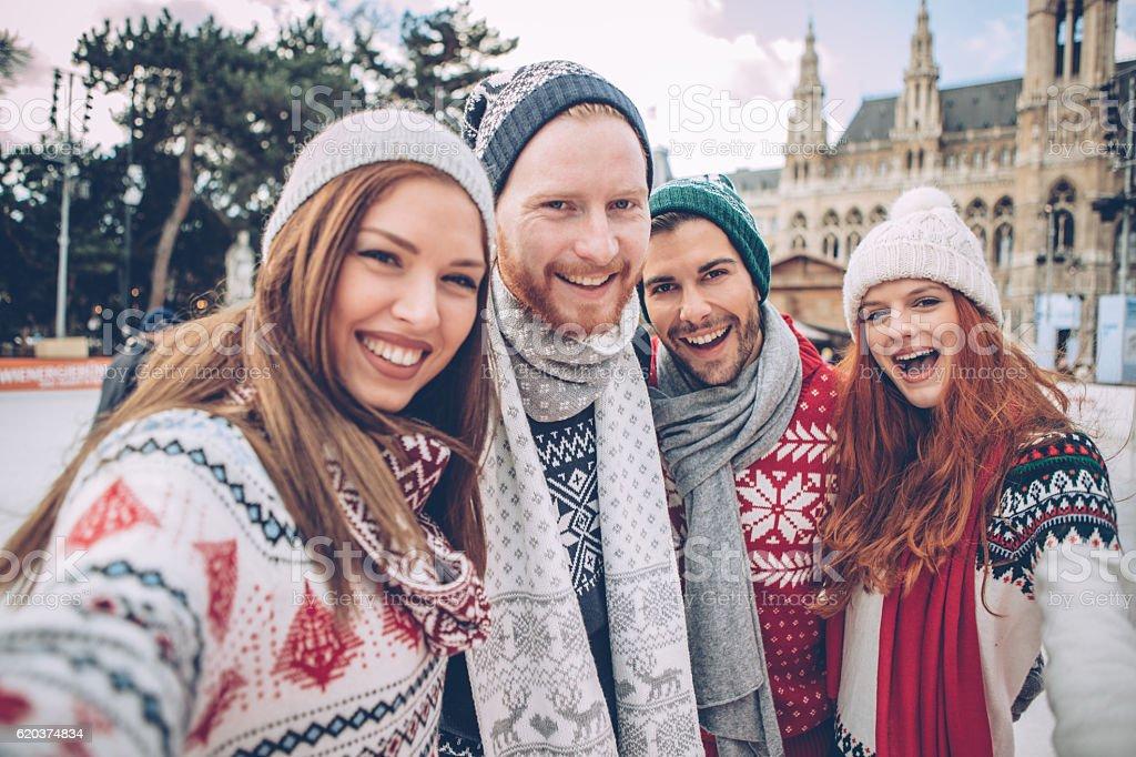 We love Christmas season stock photo