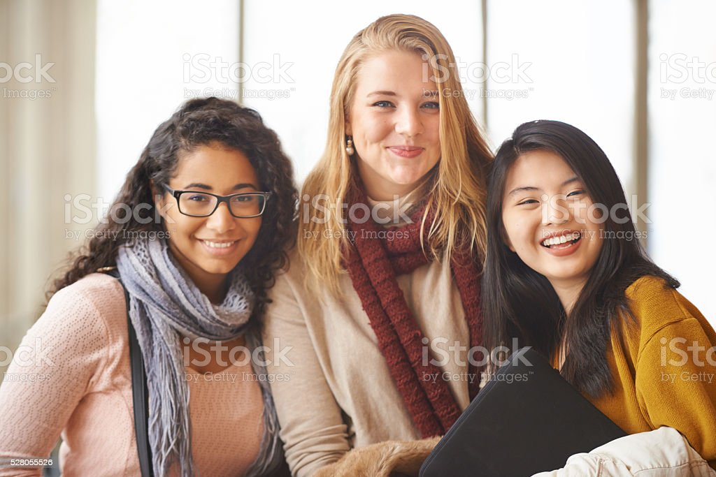 We love college life stock photo
