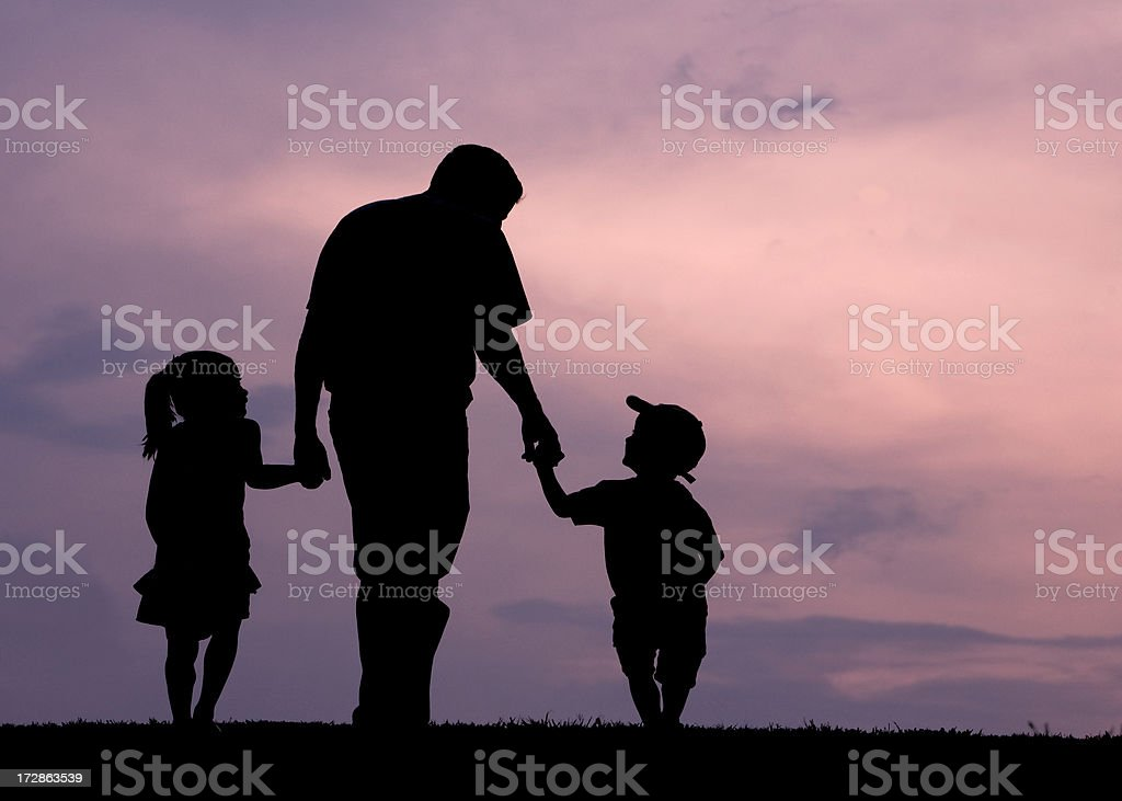 We Love Daddy stock photo