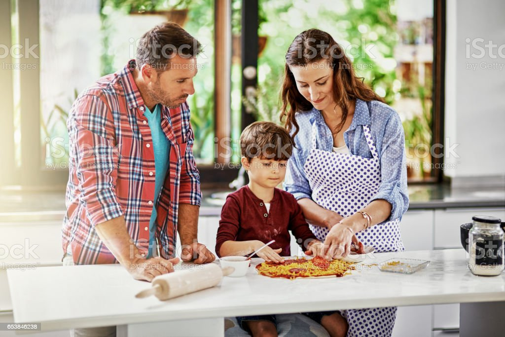 We love doing things as a family stock photo