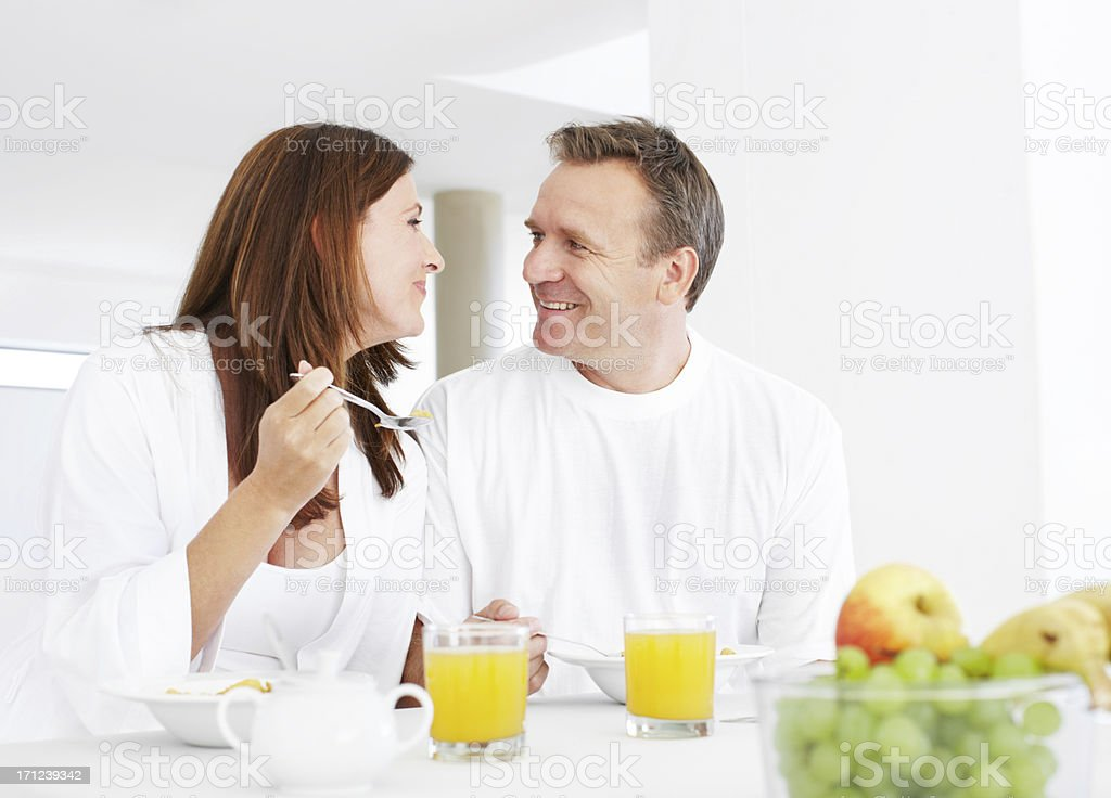 We love starting the day together royalty-free stock photo