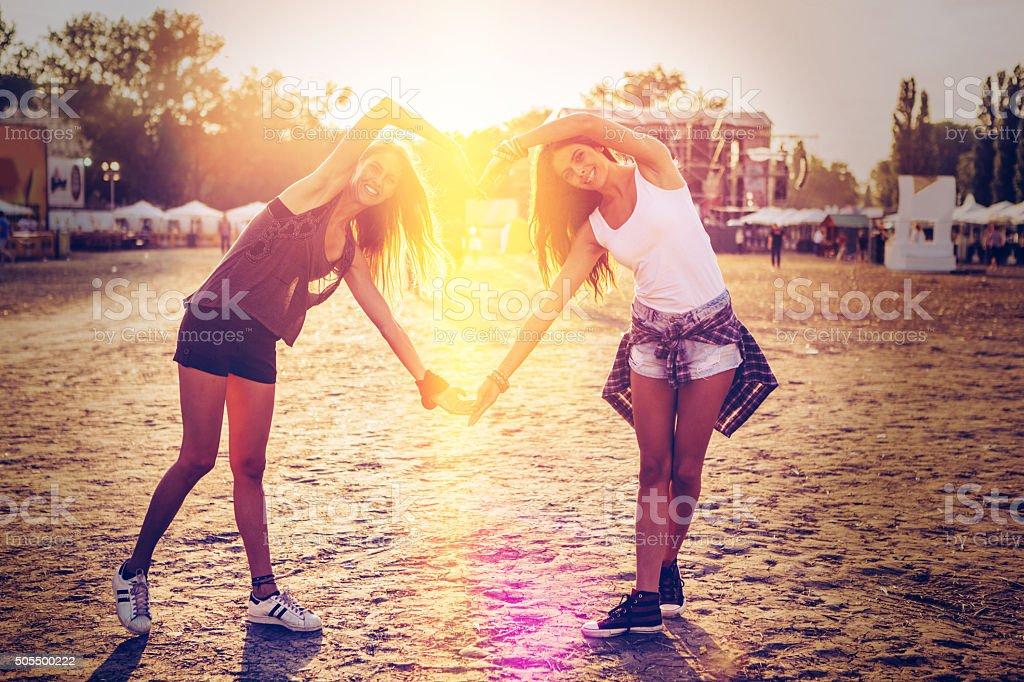 We love summer festivals stock photo