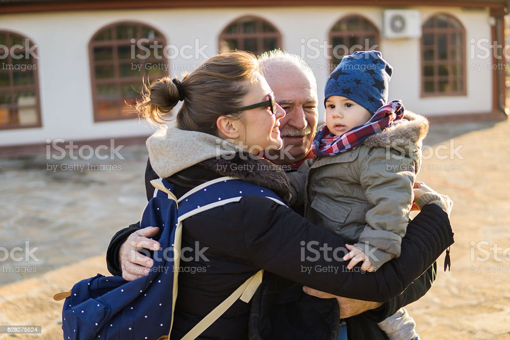 We love you little boy stock photo