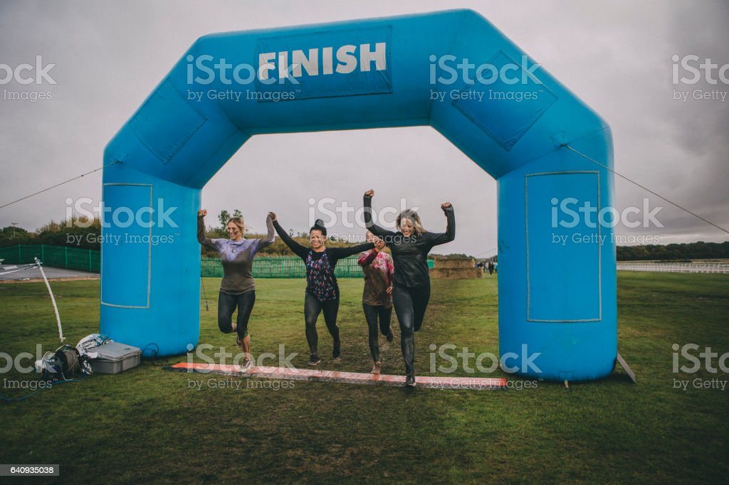 We Made It! stock photo