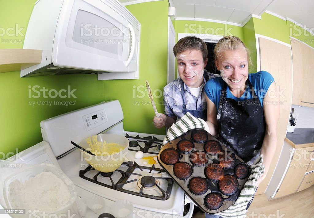 We made you some cupcakes! stock photo