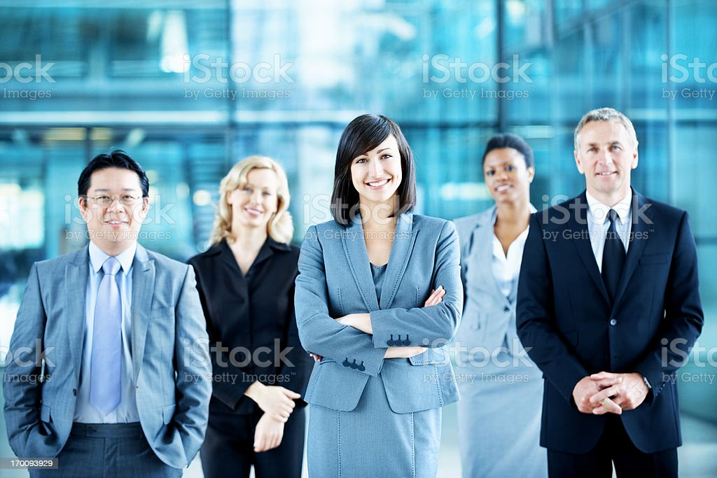 We mean business royalty-free stock photo