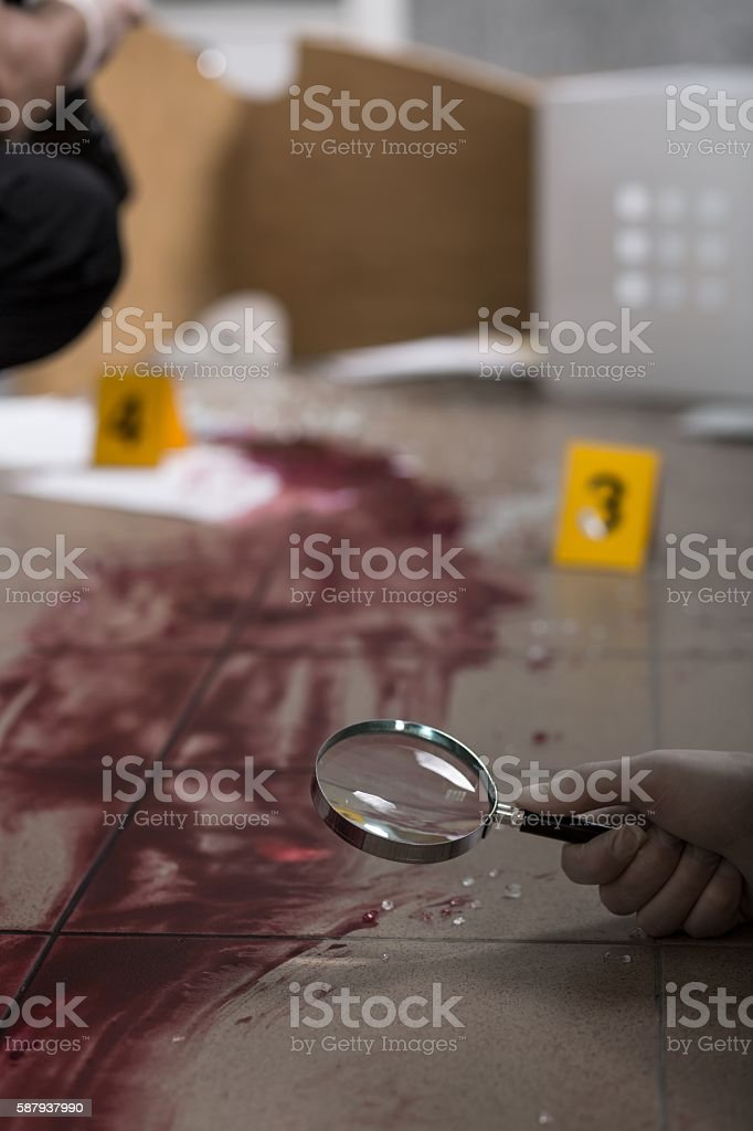We must collect each evidence stock photo