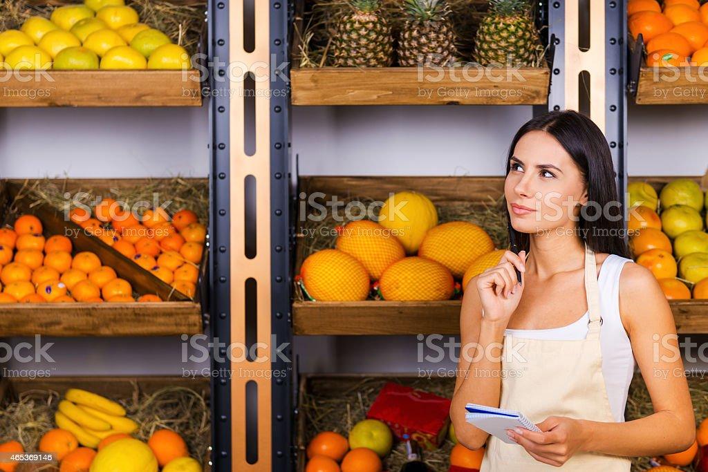 We need more oranges. stock photo
