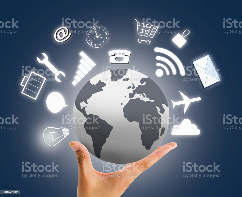 we offer different services around the world stock photo