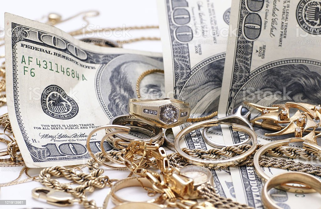We pay cash for gold royalty-free stock photo