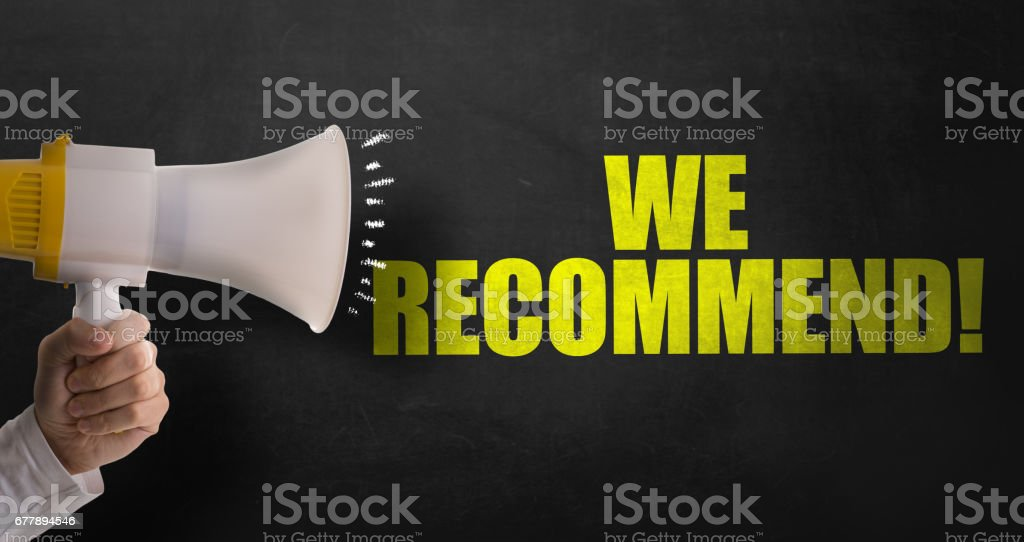 We Recommend! stock photo