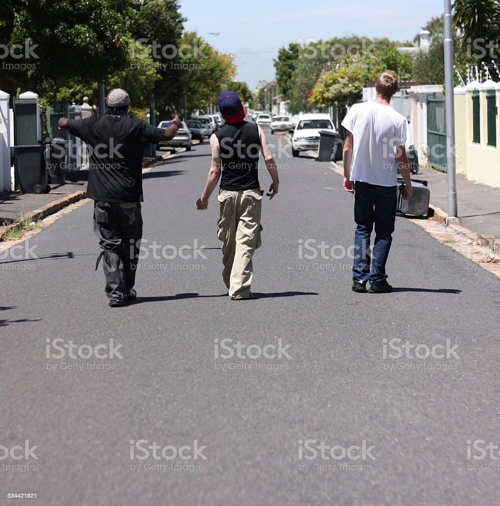 We run these streets stock photo