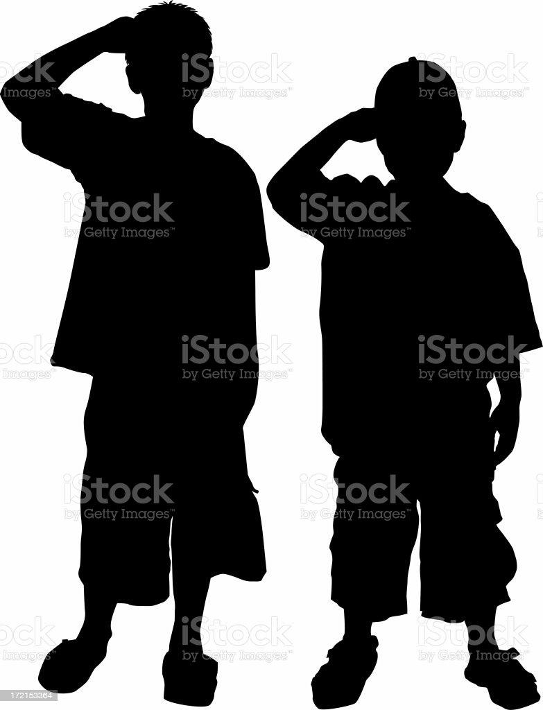 We salut you! stock photo
