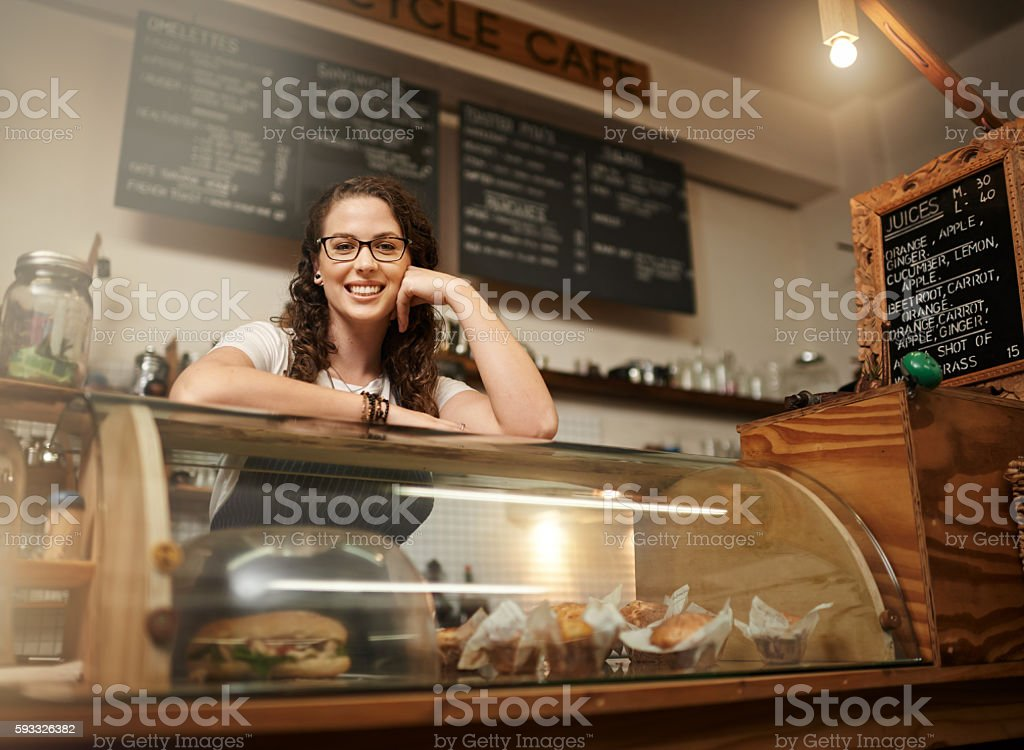 We serve only the freshest pastries stock photo