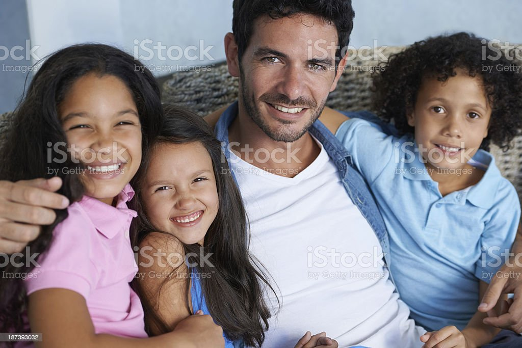 We share the strongest of family bonds stock photo