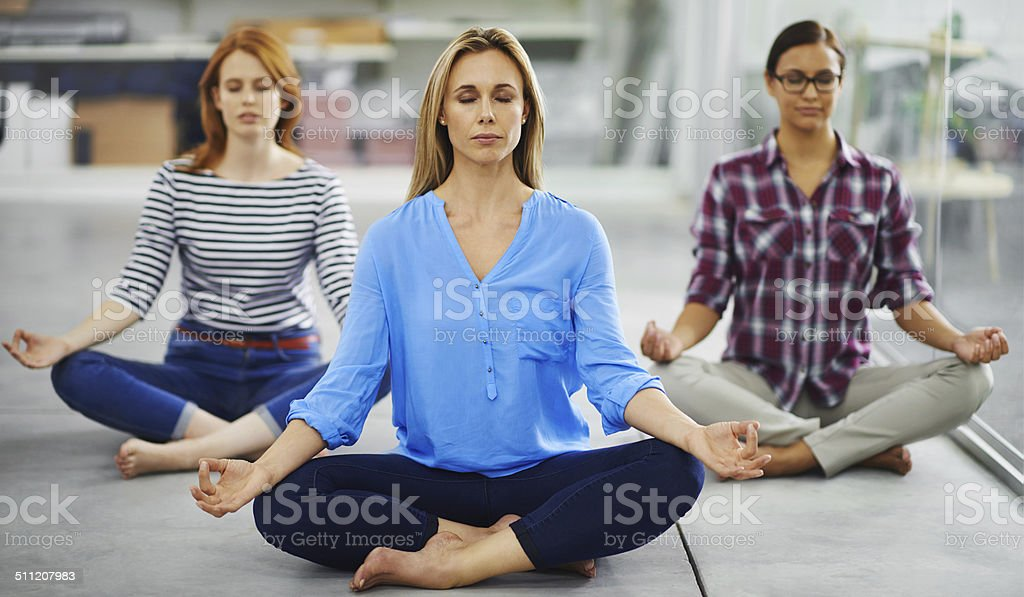 We should do this in our lunch hour everyday! stock photo