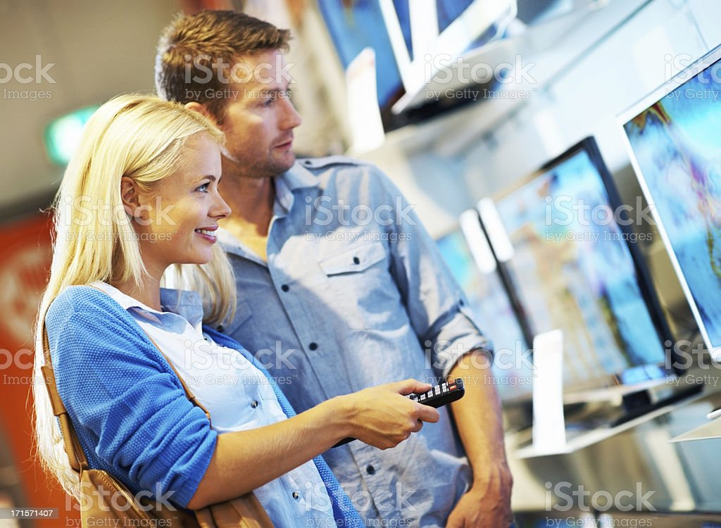 We should go for the LED TV royalty-free stock photo