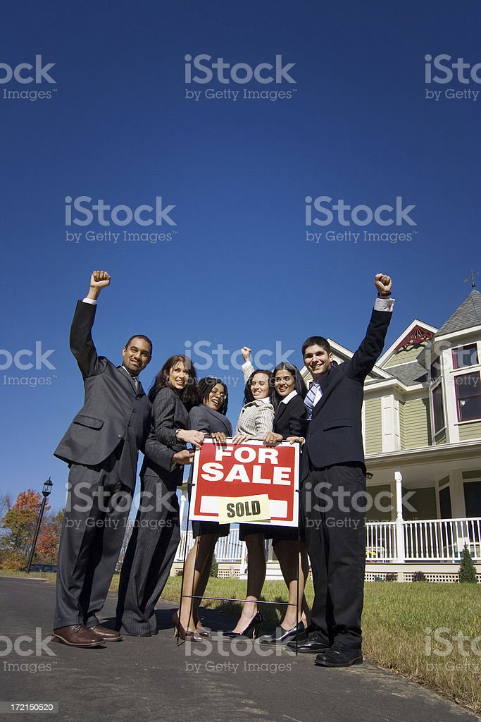 We sold the house! stock photo