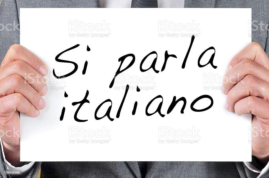 we speak italian royalty-free stock photo