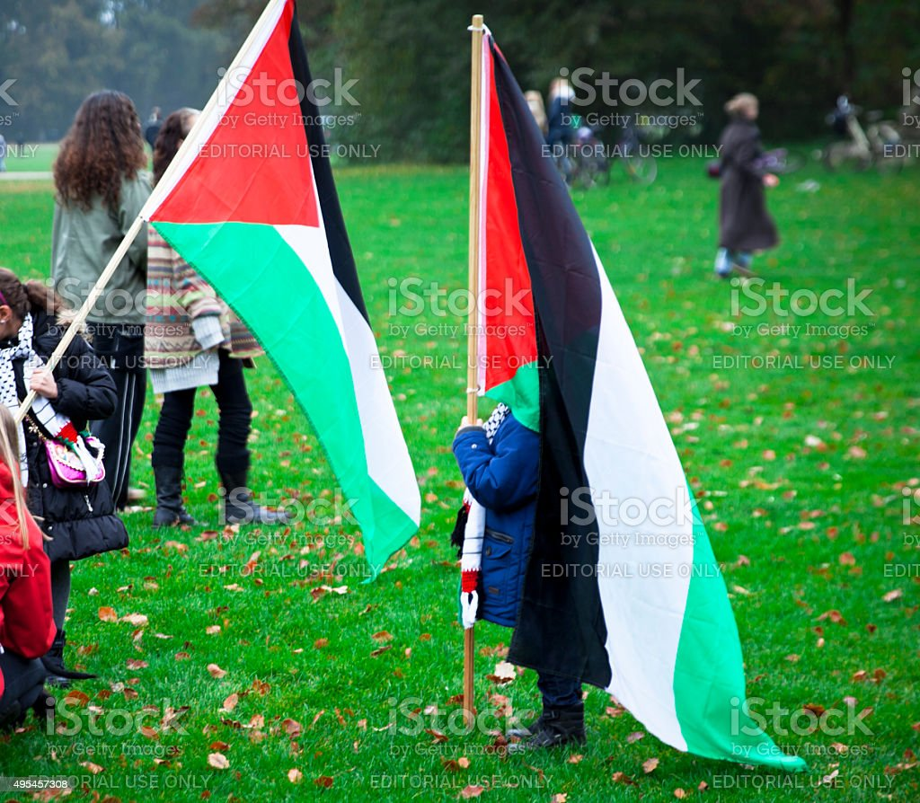 We stand with Palestine stock photo