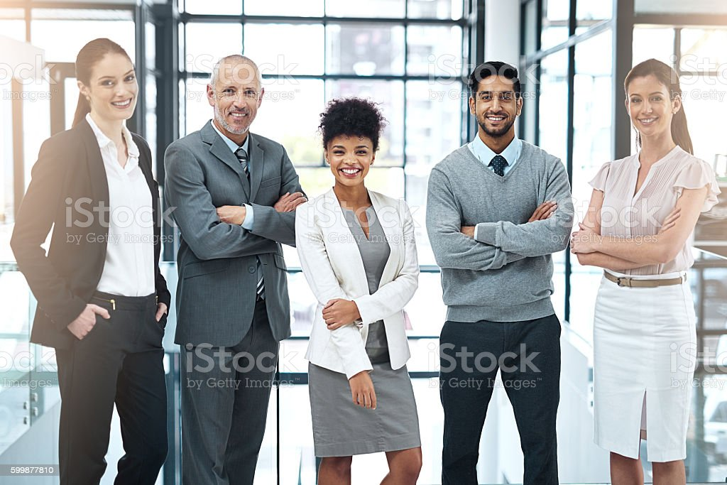We strive to be the best team in the business stock photo