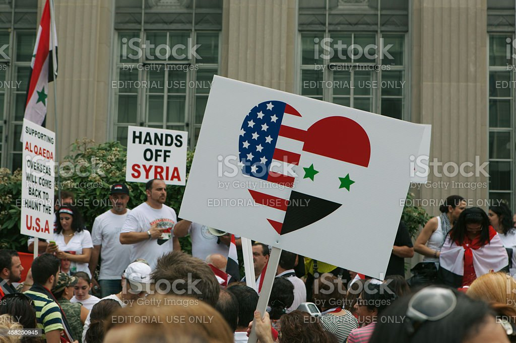 We Support The Syrian Government stock photo