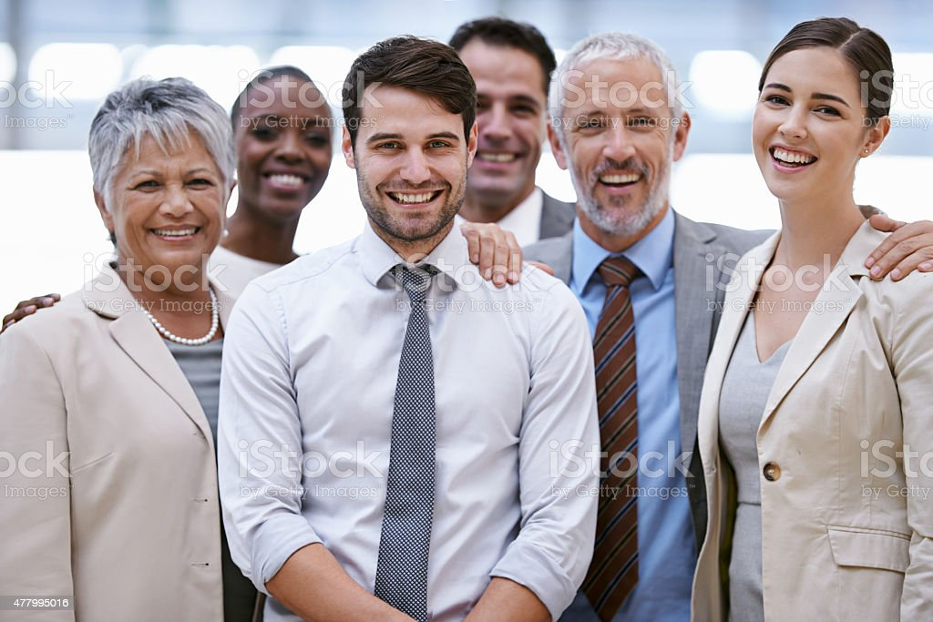 We the best in the business stock photo