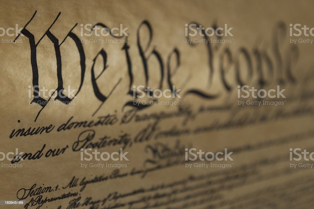 We the people title on old inscription stock photo
