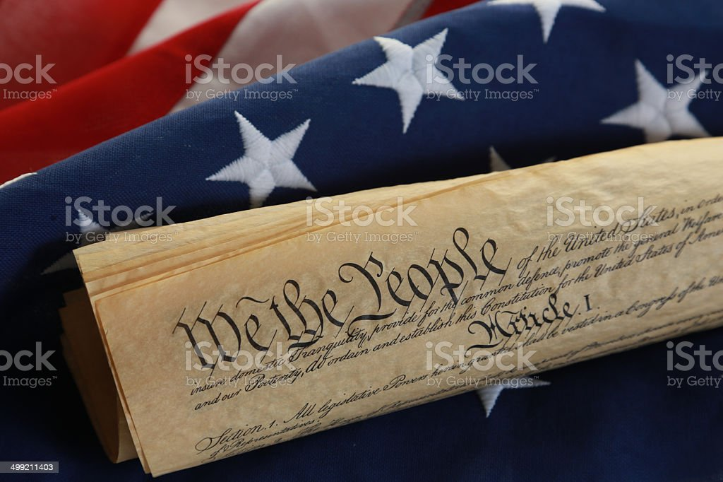 We the People - U.S. Constitution stock photo