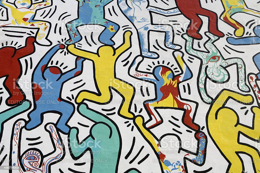 We The Youth by Keith Haring stock photo