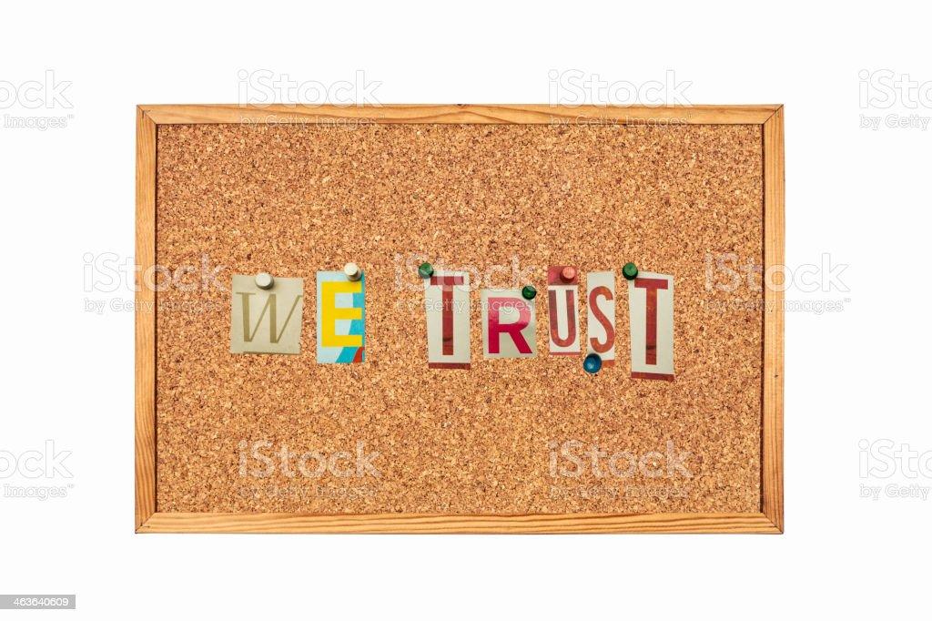 We trust royalty-free stock photo