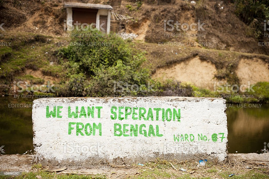 We Want Seperation From Bengal royalty-free stock photo