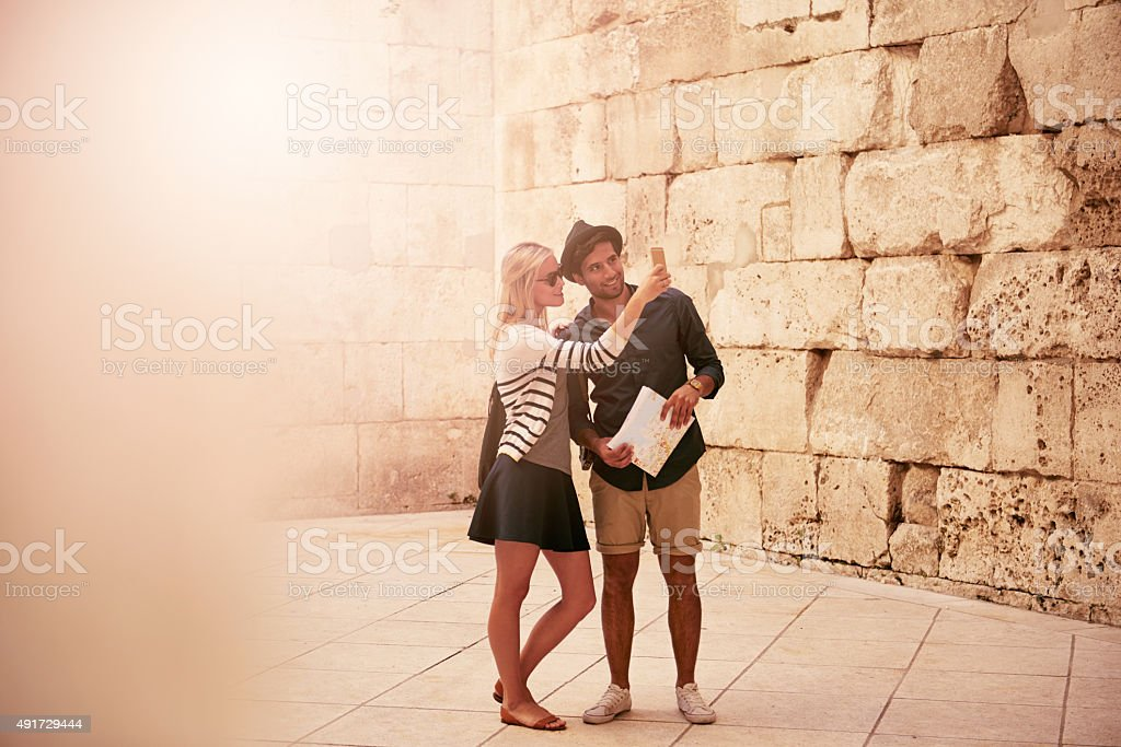 We want to make memories all over the world stock photo
