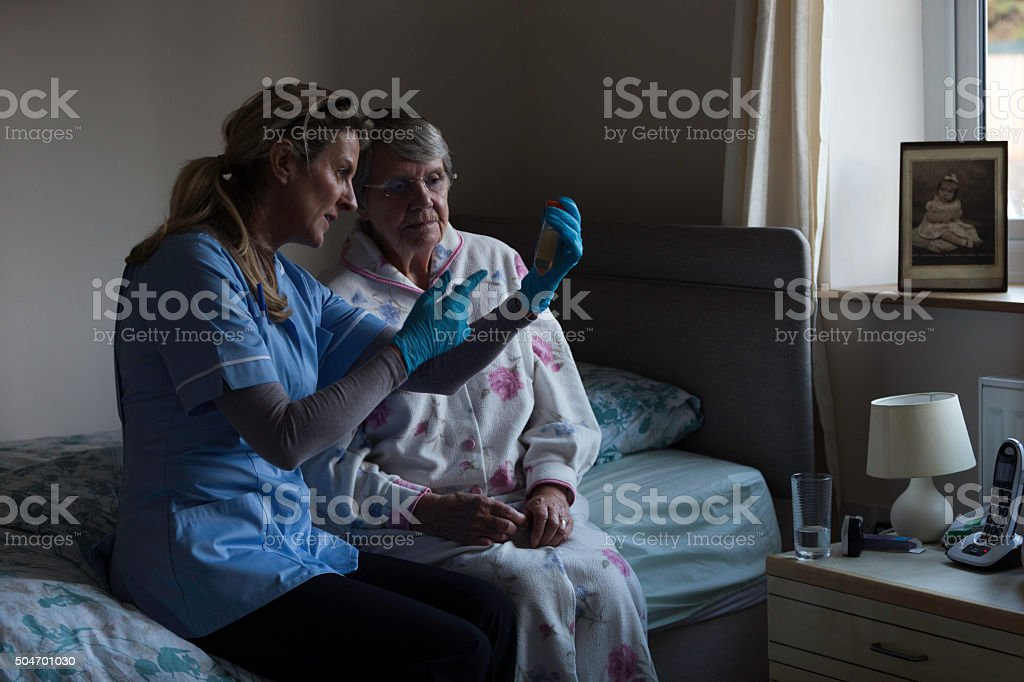 We will get this sample tested! stock photo