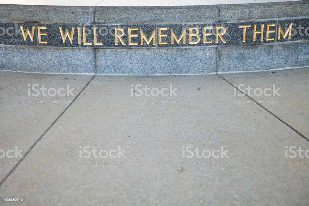 We Will Remember stock photo