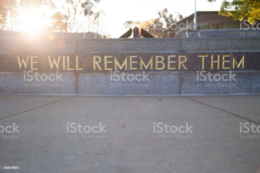 We Will Remember Them stock photo
