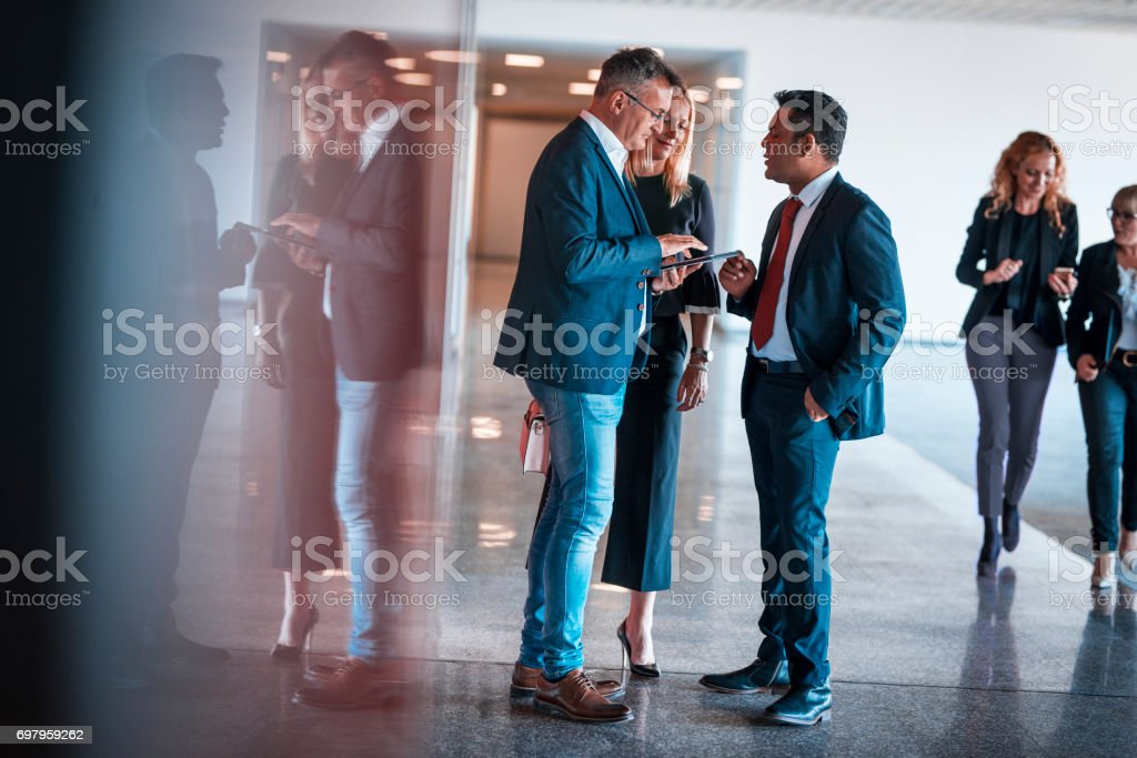 We will talk about this later stock photo