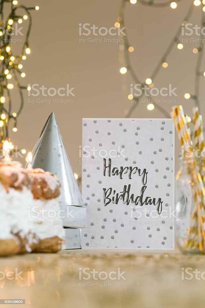 We wish you happy birthday! stock photo