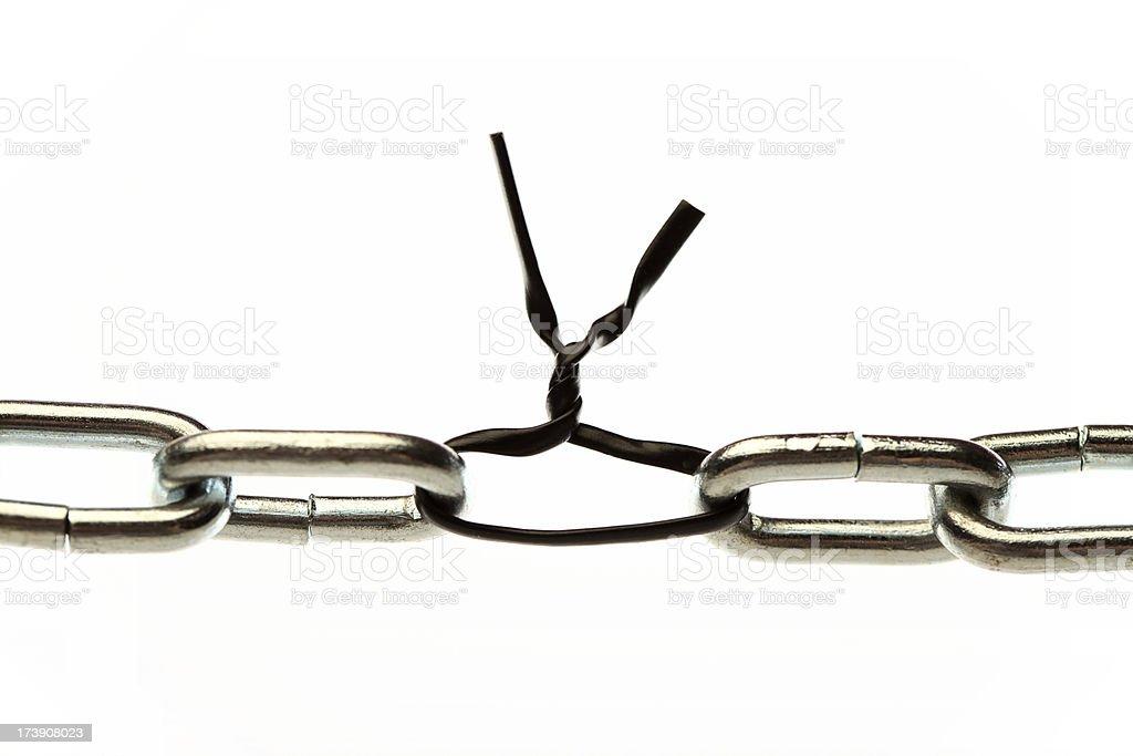 Weak Chain stock photo
