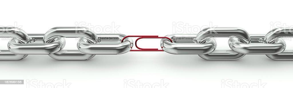 Weak link royalty-free stock photo