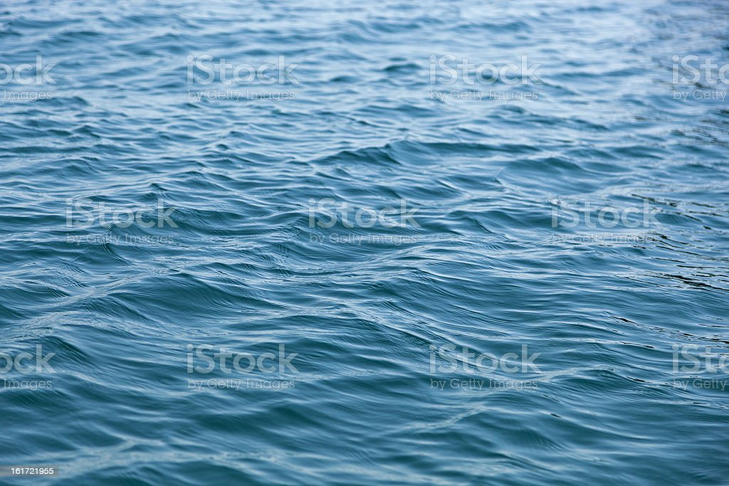 weak ripples on blue water royalty-free stock photo