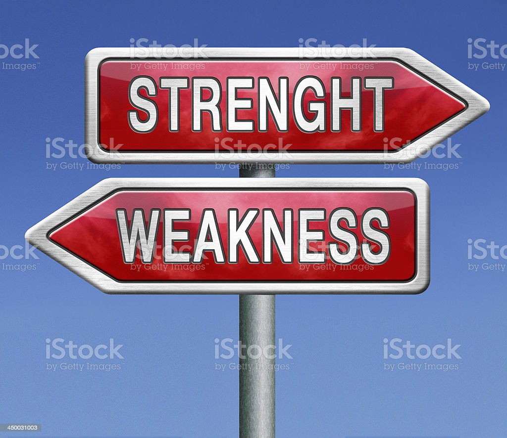 weakness or stength royalty-free stock photo
