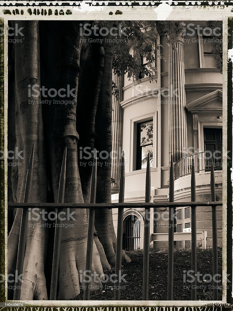 Wealth and nature barred royalty-free stock photo
